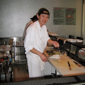 The sushi chef at Sayka